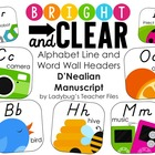 DN Manuscript Alphabet Line (Bright &amp; Clear Decor)