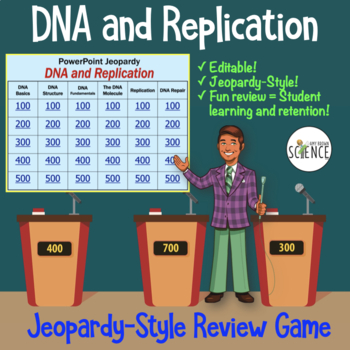 DNA (Deoxyribonucleic Acid) Powerpoint Jeopardy Review Game