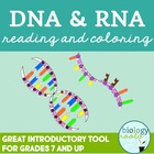 DNA + RNA Reading and Coloring Activity