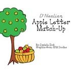 D'Nealian Apple Letter Cards - Match Up!