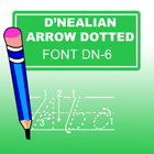 D'Nealian Arrow Dotted Font
