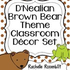 D'Nealian Brown Bear, Brown Bear Theme Classroom Decor Set