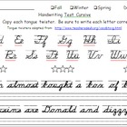 D'Nealian Cursive Handwriting Test