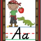 D&#039;Nealian Pirate Alphabet Line Posters A-Z