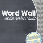 D'Nealian Word Wall Cards - Kindergarten