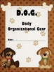 DOG Binder, Notebook or Folder Insert