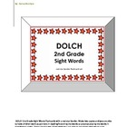 DOLCH 2nd Grade Sight Words - a red star border flashcard set