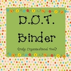 D.O.T. Binder Cover