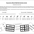 DYNAMICS Word Wall and Activity Cards (Music)