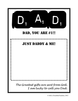 Dad #1 Father's Day card