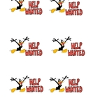 Daffy Duck Help Wanted signs