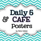 Daily 5 & CAFE Posters - Chevron Background