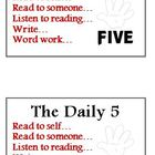 Daily 5 I PICK and Daily 5 Signs for Class Library FREE