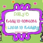 Daily 5 Read to Someone & Listen to Reading Packet (FREEBIE)