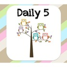 Daily 5 Sign Card Set - Owl Theme