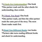 Daily 5 Three ways to read to someone