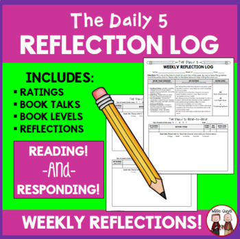 Daily 5 Weekly Reflection Log for Students