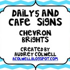 Daily 5 and CAFE Bright Chevron Headers