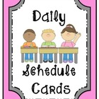 Daily Activity Schedule Cards