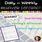 Daily Behavior Contract Chart for student & Parent progres