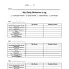 Daily Behavior Log