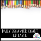 Daily Behavior chart with pictures