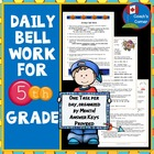Daily Bell Ringers for 5th Grade - US Version