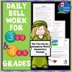 Daily Bell Work for 3rd & 4th Grade