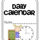 Daily Calendar Booklet