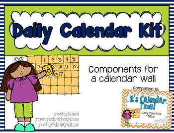 Daily Calendar Kit {Navy and Green}