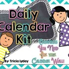 Daily Calendar Kit for your Calendar Wall- CHEVRON