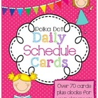 Daily Class Schedule Card Set