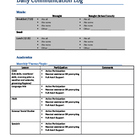 Daily Communication Log (Upper Elementary)