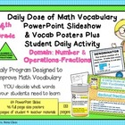 4th Grade Daily Math Vocabulary Slideshow/Poster Set CCSS-