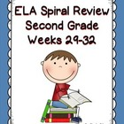 Daily ELA SPiral Review for Second Grace, Weeks 29-32