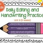 Daily Editing and Handwriting Practice (Unit Three) - Trea
