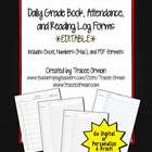 Daily Gradebook Record, Attendance, Reading Log Forms