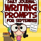 Daily Journal Writing Prompts ~ August / September ~ Back