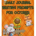 Daily Journal Writing Prompts For October & Halloween   {C