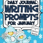 Daily Journal Writing Prompts ~ January & Winter  {Common