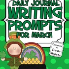Daily Journal Writing Prompts ~ March & Spring  {Common Co