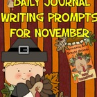 Daily Journal Writing Prompts ~ November &amp; Thanksgiving  {