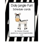 Daily Jungle Fun! Schedule Cards