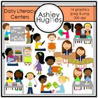 Daily Literacy Centers {Graphics for Commercial Use}