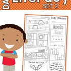 Daily Literacy Morning Work - Set 2 (Sight Words / Beginni