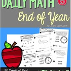 Daily Math 5 (End of Year Review) Fourth Grade