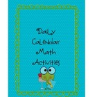 Daily Math Calendar Printables