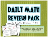 Common Core Math Practice Check-up Packet