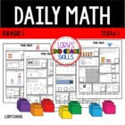 Daily Math- Common Core - Grade 1 - Term 1