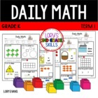 Daily Math- Common Core - Kindergarten - Term 1